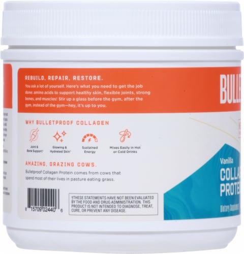 Bulletproof Vanilla Collagen Protein Powder Perspective: left