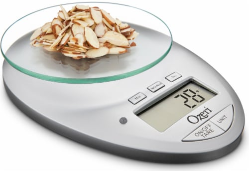 Ozeri Pro II Digital Kitchen Scale with Removable Glass Platform and Kitchen Timer Perspective: left