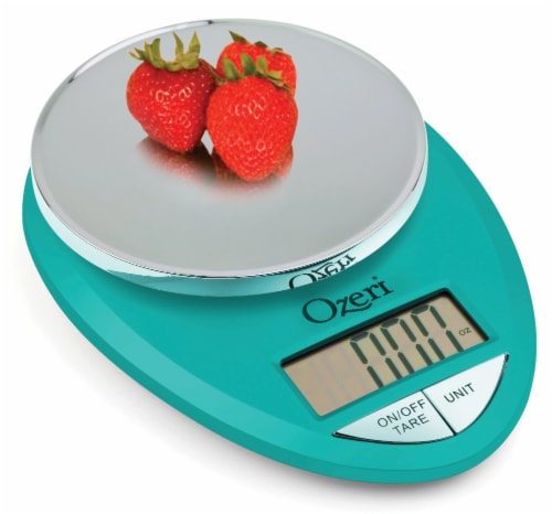 Ozeri Pro Digital Kitchen Food Scale, 0.05 oz to 12 lbs (1 gram to 5.4 kg) Perspective: left