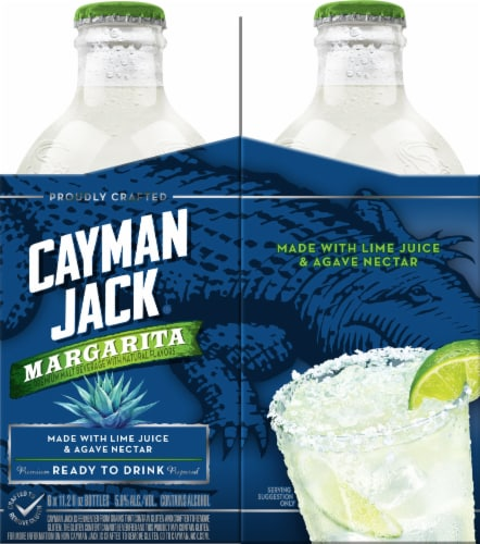 Cayman Jack Margarita Premium Malt Beverage Prepared Cocktail Perspective: left