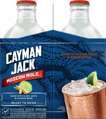 Cayman Jack Moscow Mule Malt Beverage Perspective: left