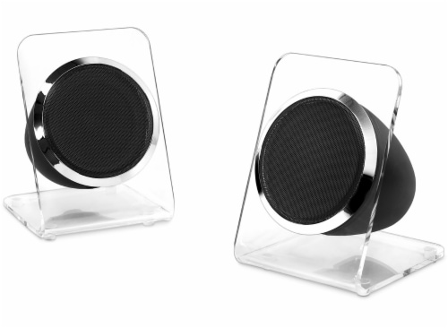 Victrola Acrylic Bluetooth Record Player and Speakers - Clear Perspective: left
