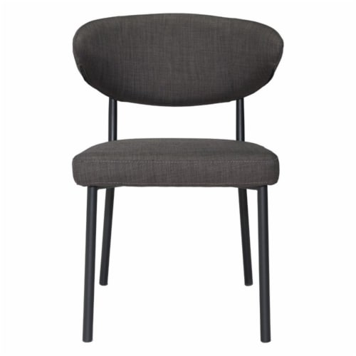 Zuo Pontus Dining Chair in Charcoal Gray (Set of 2) Perspective: left