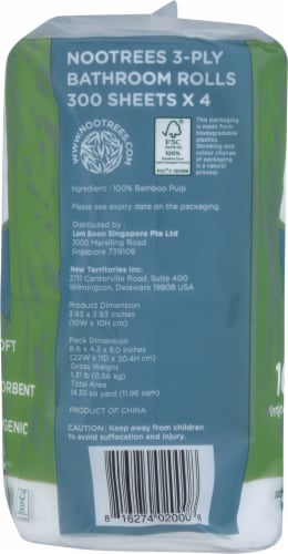 NooTrees Bamboo Bath Tissue Perspective: left