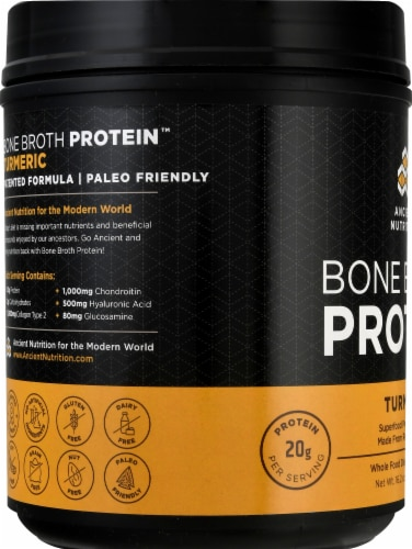 Ancient Nutrition Bone Broth Protein Turmeric Perspective: left