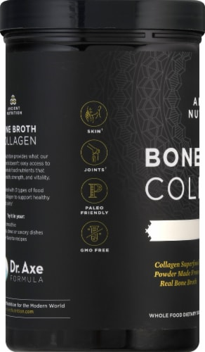 Ancient Nutrition Pure Bone Broth Collagen Powder Perspective: left