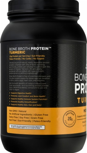 Ancient Nutrition Bone Broth Protein Turmeric Protein Powder Perspective: left