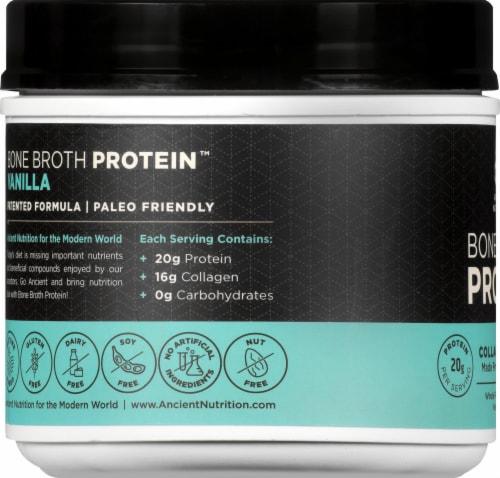 Ancient Nutrition Bone Broth Vanilla Protein Superfood Powder Perspective: left