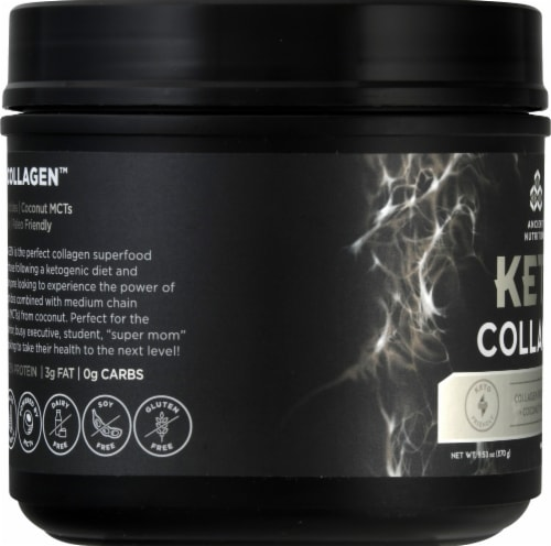 Ancient Nutrition Keto Collagen Powder Perspective: left