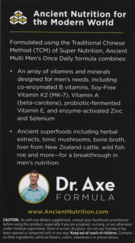 Ancient Nutrition Men's Once Daily Vitamin Capsules Perspective: left