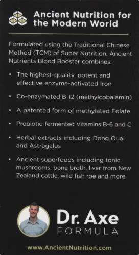 Ancient Nutrition Blood Booster Capsules Perspective: left