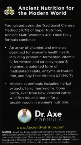 Ancient Nutrition Women's 40+ Once Daily Vitamin Capsules Perspective: left