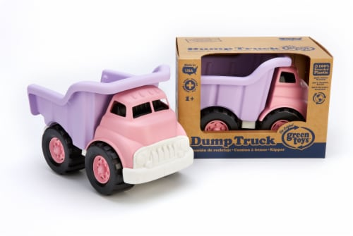 Green Toys Toy Dump Truck - Pink Perspective: left