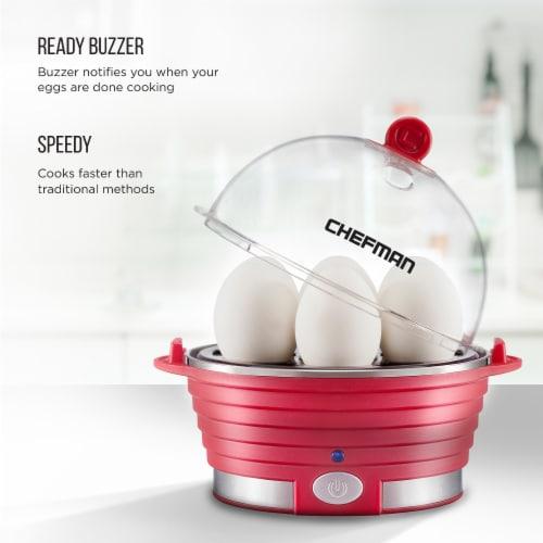 Chefman Electric Egg Cooker Boiler - Red Perspective: left