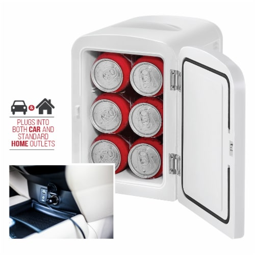 Chefman Mini Portable Personal Fridge - White Perspective: left