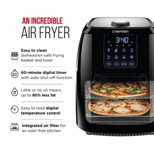 Chefman Multi-Functional Digital Air Fryer - Black Perspective: left