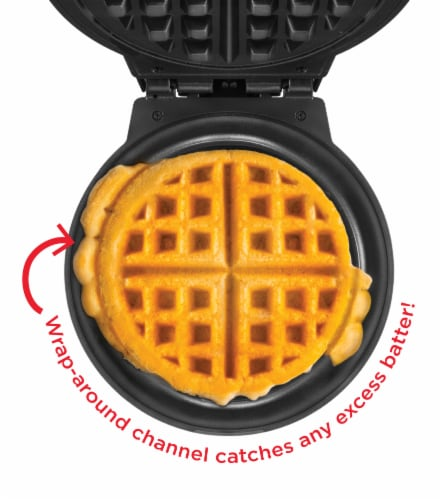 Chefman Anti-Overflow Belgian Waffle Maker - Black Perspective: left