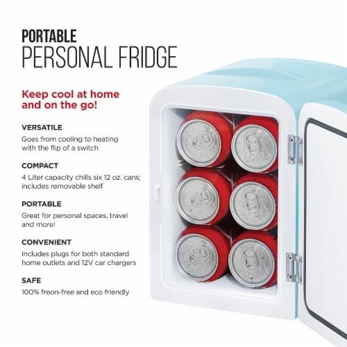 Chefman Mini Portable Personal Fridge - Light Blue Perspective: left