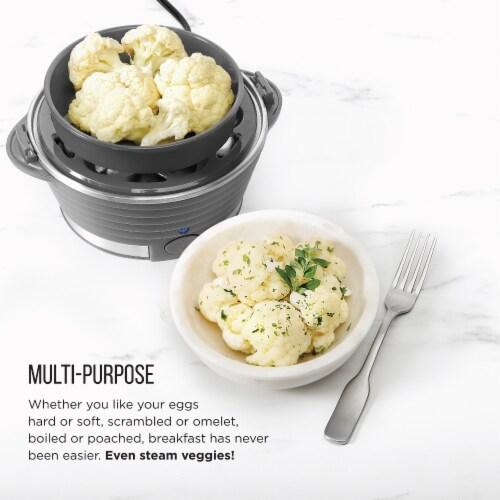 Chefman Electric Double Decker Egg Cooker Boiler - Gray Perspective: left