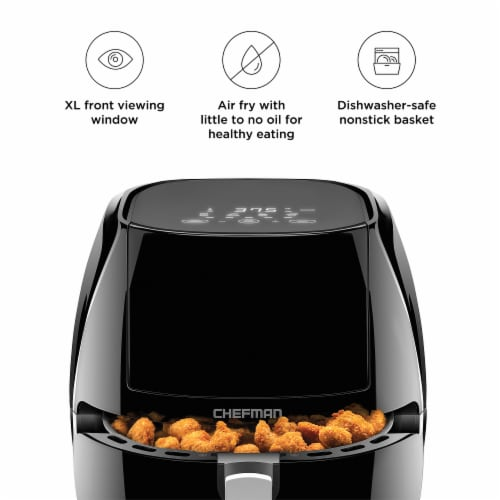 Chefman TurboFry Touch Air Fryer - Black Perspective: left