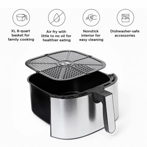 Chefman TurboFry Stainless Steel Air Fryer - Silver Perspective: left