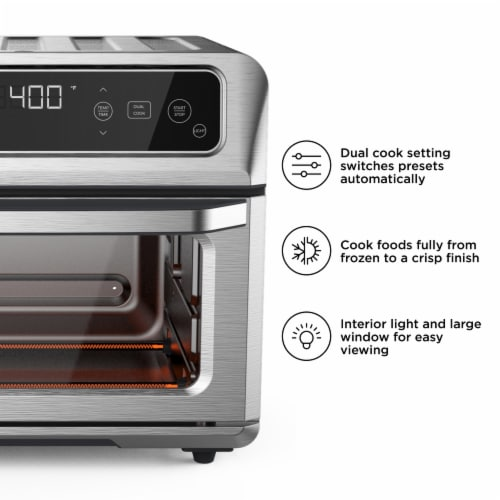 Chefman Stainless Steel Dual-Function Air Fryer and Toaster Oven Perspective: left