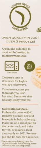 Boomerang's Spinach & Mushroom Pot Pie Frozen Meal Perspective: left