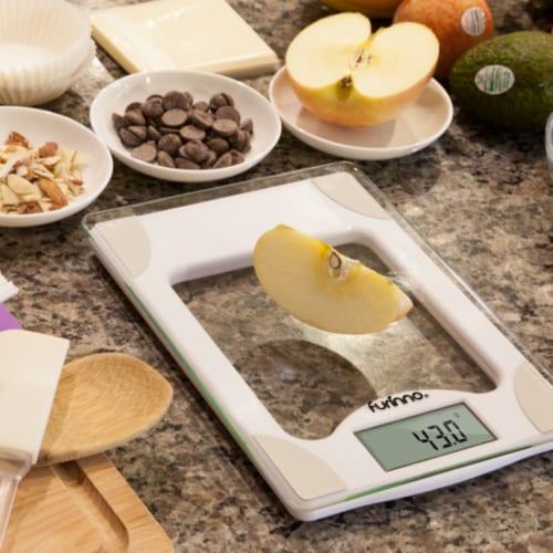 Furinno DaPur Precision Kitchen Scale, White Perspective: left