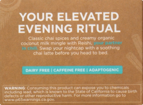 Four Sigmatic's Mushroom Chai Latte with Turkey Tail & Reishi Packets Perspective: left
