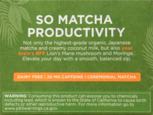 Four Sigmatic Mushroom Matcha Latte Mix Packets Perspective: left