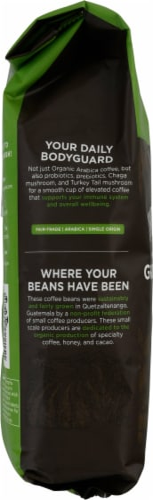 Four Sigmatic Defend Medium Roast Mushroom Ground Coffee with Probiotics Perspective: left