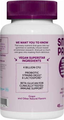 SmartyPants Kids Grape Probiotic Complete Dietary Supplement Gummies Perspective: left