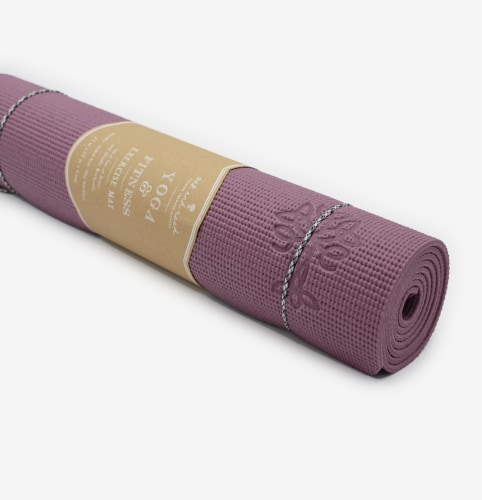 Oak and Reed Extra-Thick Non-Slip Yoga Mat with Carry Rope, Mauve Perspective: left