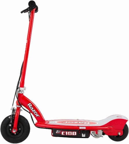 Razor E100 Electric Scooter - Red Perspective: left