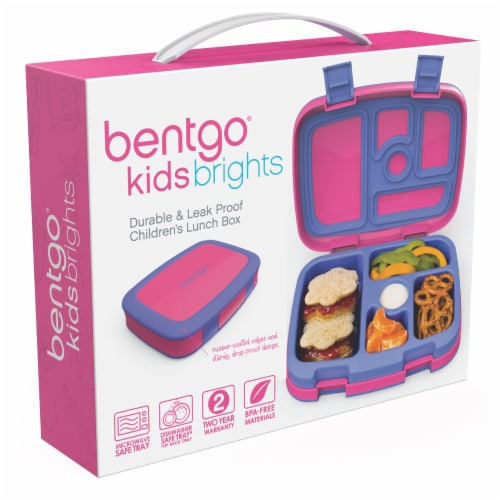 Bentgo Kids Durable & Leak Proof Children's Lunch Box - Fuchsia Perspective: left