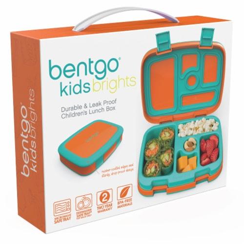 Bentgo Kids Durable & Leak Proof Children's Lunch Box - Orange Perspective: left