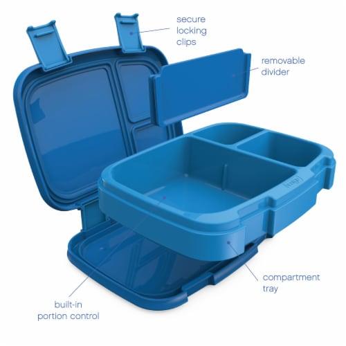 Bentgo Fresh Leak-Proof & Versatile Compartment Lunch Box - Blue Perspective: left