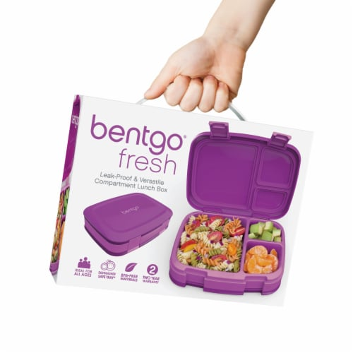 Bentgo Fresh Leak-Proof & Versatile Compartment Lunch Box - Purple Perspective: left