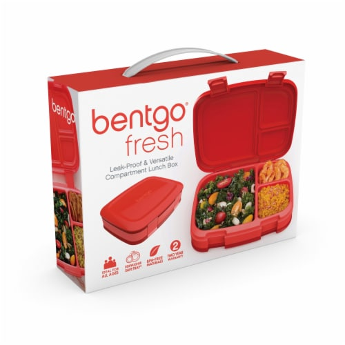 Bentgo Fresh Leak-Proof & Versatile Compartment Lunch Box - Red Perspective: left