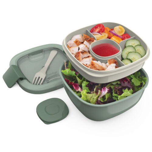 Bentgo Salad On-The-Go Food Container - Slate Perspective: left