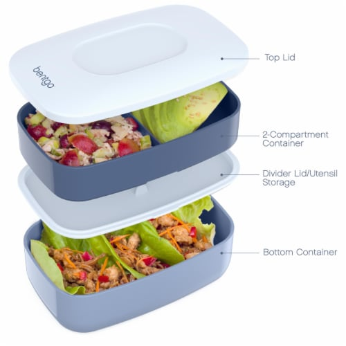 Bentgo Classic On-The-Go Food Container - Slate Perspective: left