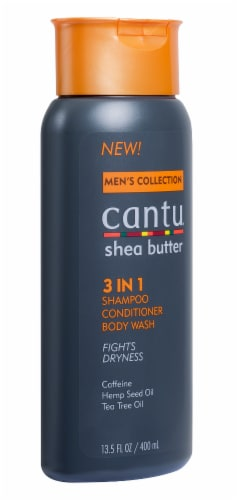 Cantu Men's Shea Butter 3-In-1 Shampoo Conditioner and Body Wash Perspective: left