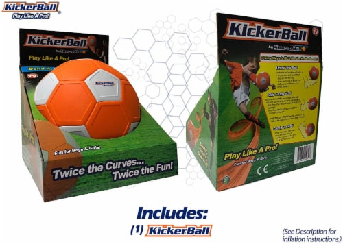 Kickerball® Curve and Swerve Soccer Ball Perspective: left