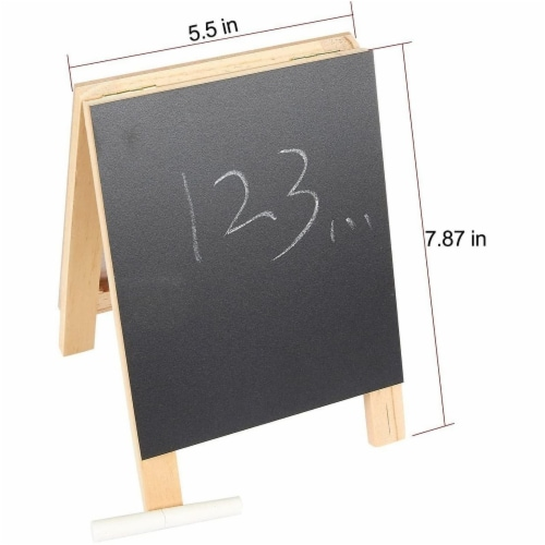 Juvale Small Double Sided Easel, Black Chalkboard & White Dry Erase Boards (5.5 x 7.8 x 1 in) Perspective: left