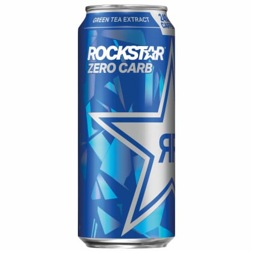 Rockstar Zero Carb Energy Drink Perspective: left