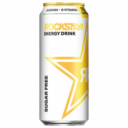 Rockstar Sugar Free Energy Drink Perspective: left