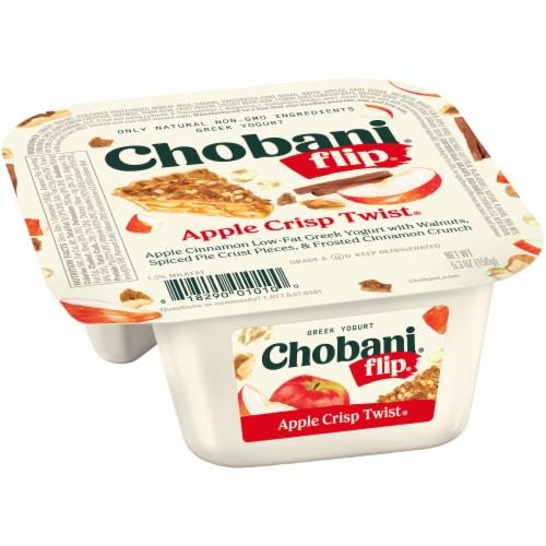Chobani Flip Apple Crisp Twist Low-Fat Greek Yogurt Perspective: left