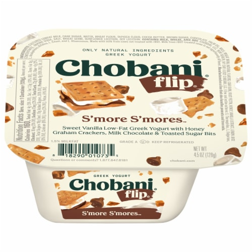 Chobani Flip S'more S'mores Low-Fat Greek Yogurt Perspective: left