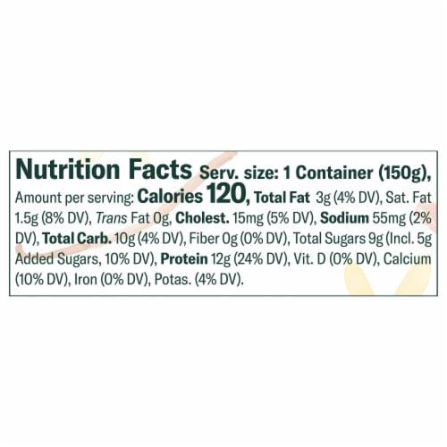 Chobani Less Sugar Madagascar Vanilla & Cinnamon Greek Yogurt Perspective: left