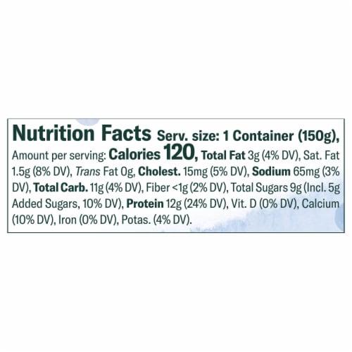 Chobani Less Sugar Wild Blueberry Greek Yogurt Perspective: left